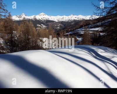 Near La Rua, Molines-en-Queyras, Parc regional du Queyras, French Alps - Stock Image
