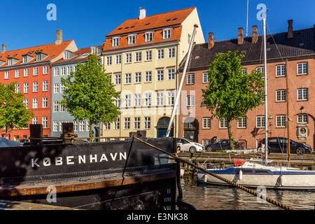 Christianshavn Canal, Christianshavn, Copenhagen, Denmark - Stock Image