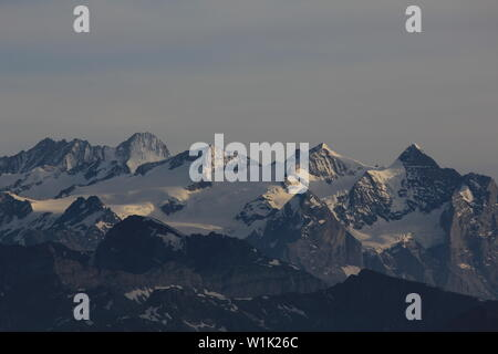 Gauli Glacier and mountain range in the Bernese Highlands. - Stock Image
