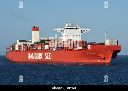 One of the Worlds biggest Reefer-Container-Vessel Cap San Marco - Stock Image