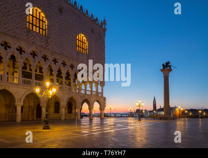 Palazzo Ducale in the morning - Stock Image