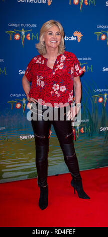 London, United Kingdom. 16 January 2019. Anthea Turner arrives for the red carpet premiere of Cirque Du Soleil's 'Totem' held at The Royal Albert Hall. Credit: Peter Manning/Alamy Live News - Stock Image