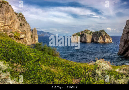 Capri island in a beautiful summer day in Italy - Stock Image
