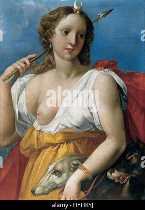Cavalier d'Arpino   Diane the Huntress   Google Art Project - Stock Image
