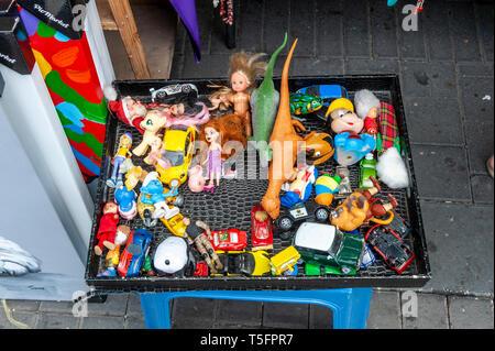 Israel, Tel Aviv-Yafo - 24 April 2019: Toys sold in Shuk hapishpeshim flea market - Stock Image