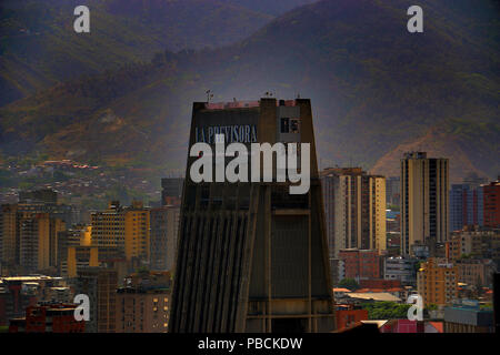 Architecture of the Sabana Grande Area in Caracas Venezuela, Business and Shopping District. - Stock Image
