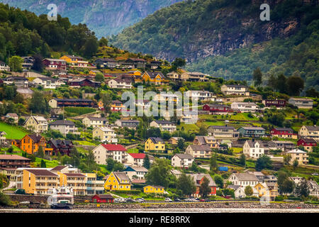 The Village, Flaam, Norway - Stock Image
