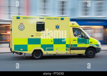 South Central Emergency ambulance car - Stock Image