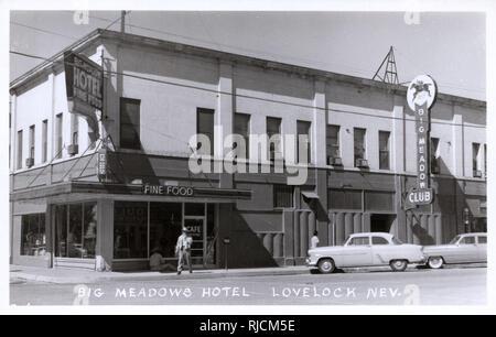 Big Meadow Hotel and Club, Lovelock, Pershing County, Nevada, USA. - Stock Image