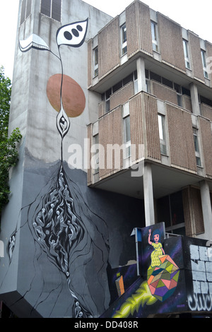 Birmingham street artist Lucy McLauchlan's untitled work, part of the See No Evil exhibition on Nelson Street - Stock Image