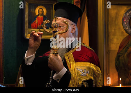 Patriarch Bartholomew of Constantinople. Istanbul. Turkey - Stock Image