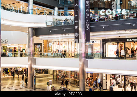 The Westquay Shopping Centre in Southampton. - Stock Image