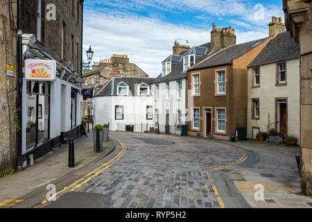 Edinburgh Road, looking towards High Street, South Queensferry, Edinburgh, Scotland, UK - Stock Image