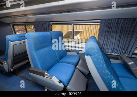 Interior Of Amtrak Rail Car, USA - Stock Image