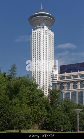 Radisson Blu New World Hotel Shanghai - Stock Image