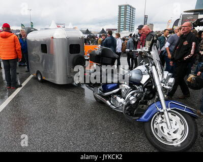 Hamburg Harley Days Biker-City-Event big motorbike motorbiker parade Germany - Stock Image