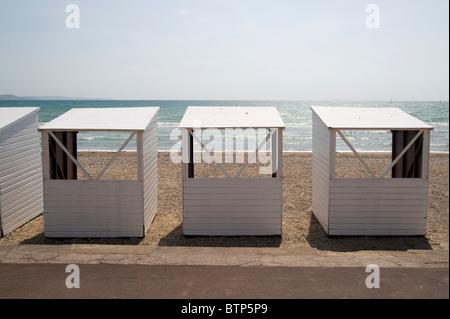Beach Huts Weymouth Beach, Dorset, UK. - Stock Image