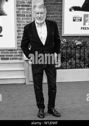 Los Angeles, CA - June 02, 2019: Harrison Ford attends the Premiere Of Universal Pictures' 'The Secret Life Of Pets 2' held at Regency Village Theatre - Stock Image