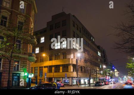 The Czech radio building in the Vinohradska Street, Prague, Czech Republic, on November 12, 2018. (CTK Photo/Libor Sojka) - Stock Image