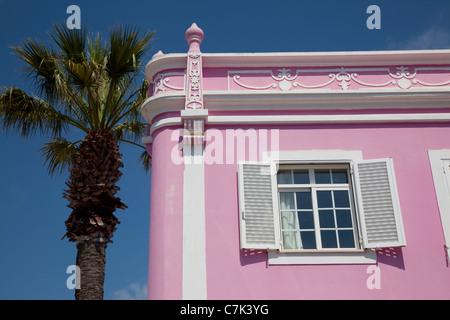 Portugal, Algarve, Lagos, Colourful Building - Stock Image