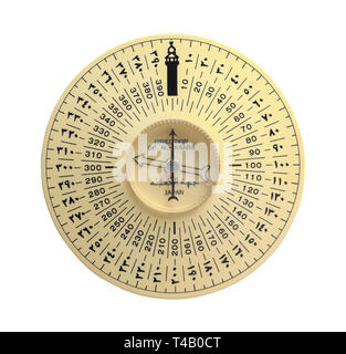Al Kaaba Compass Isolated on White Background. - Stock Image