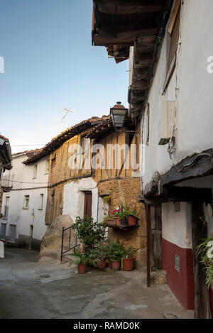 Traditional architecture in Villanueva de la Vera, Caceres, Extremadura, Spain - Stock Image