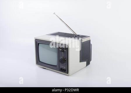 The Vintage portable TV - Stock Image