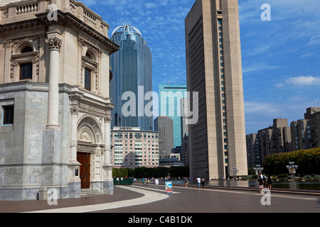 USA, Massachusetts, Boston.  The Mother Church, The First Church of Christ, Scientist, in the Back Bay area of Boston, - Stock Image