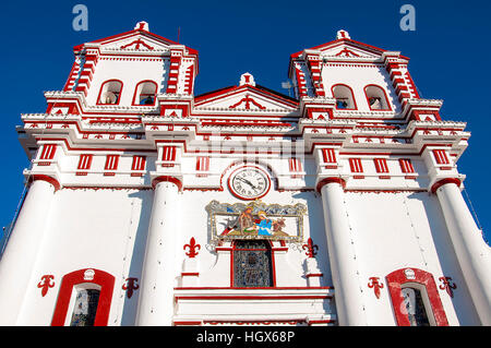 Church of Our Lady of Carmen, in city centre Guatape - Stock Image
