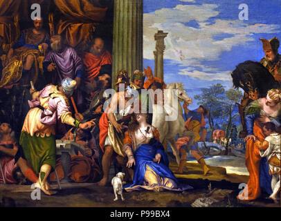 Martirio di San Giustina - Martyrdom of St. Giustina by Paolo Veronese ( Paolo Caliari 1528 – 1588) Italy Italian - Stock Image