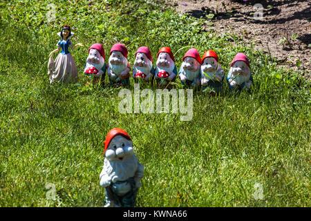 Snow White and the Seven Dwarfs - Stock Image