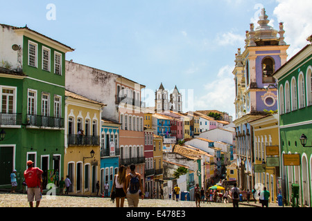 Salvador de Bahia´s historical center, better known as Pelourinho. - Stock Image