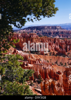 Boat Mesa and Bryce Amphitheater from Sunset Point, Bryce Canyon National Park, Utah. - Stock Image