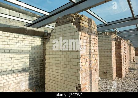 Germany, Berlin. Basement remains of the Gestapo Headquarters at Berlin Wall. Credit as: Wendy Kaveney / Jaynes - Stock Image