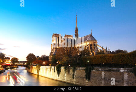 The Notre Dame Cathedral , Paris, France. - Stock Image