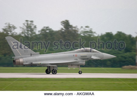 Typhoon Eurofighter Italian Air Force Rivolto Italia Air show 2005 - Stock Image