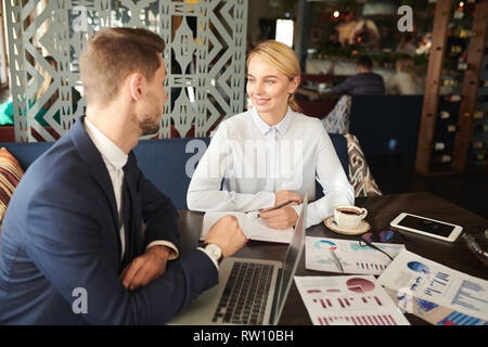 Planning work at meeting - Stock Image