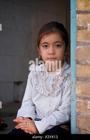 Portrait of an Iranian girl, Yazd, Iran - Stock Image