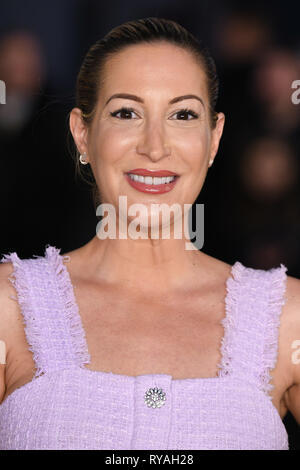London, UK. 12th Mar, 2019. LONDON, UK. March 08, 2019: Laura Pradelska arriving for the premiere of 'The White Crow' at the Curzon Mayfair, London. Picture: Steve Vas/Featureflash Credit: Paul Smith/Alamy Live News - Stock Image