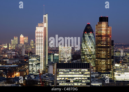 Engalnd, The City of London seen from the Barbican - Stock Image