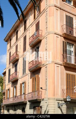 Haus in der Altstadt von Palma, Mallorca, Spanien, Europa. - House in the old town of Palma, Majorca, Spain, Europe. - Stock Image
