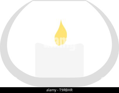 Candle In Glass Icon. Flat Color Design. Vector Illustration. - Stock Image