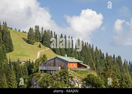 The August Schuster S House And The Mountain Country Home Located On The Pürschling In The Ammergau Alps - Stock Image