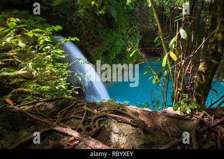 Kawasan waterfalls located on Cebu Island, Philippines - Stock Image