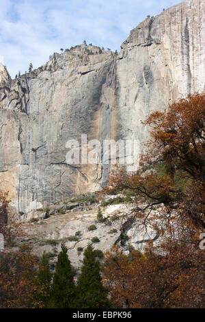 Upper Yosemite Fall. Yosemite Valley, Yosemite National Park, Mariposa County, California, USA - Stock Image