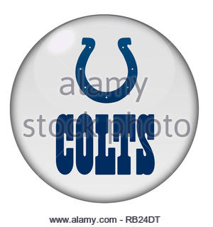 Indianapolis Colts logo sign - Stock Image