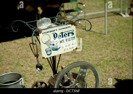antique Peters Ice Cream ice cream maker. - Stock Image