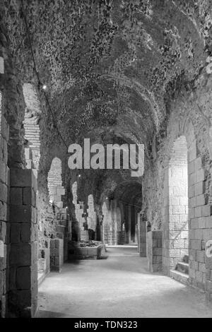 Catania - The indoor of Roman Theatre. - Stock Image