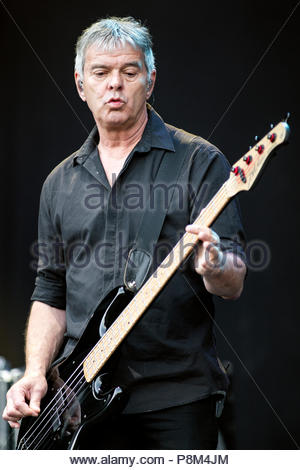 Aix-les-Bains, France. 12th July, 2018. The Stranglers performing live at Musilac festival in Aix-les-Bains (France) - 12 July 2018 Credit: Olivier Parent/Alamy Live News - Stock Image