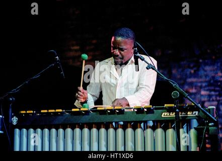 Stefon Harris, Brecon Jazz Festival, August 2004.  Artist: Brian O'Connor. - Stock Image